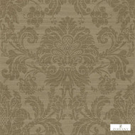 Zoffany Crivelli ZCDW02008  | Wallpaper, Wallcovering - Fire Retardant, Brown, Traditional, Damask