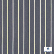 Sanderson Annis 232650  | Upholstery Fabric - Black, Charcoal, Stripe, Traditional, Fibre Blend, Standard Width