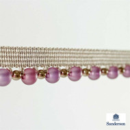 Sanderson Beaded Braid 232281  | Upholstery Fabric - Washable, Pink, Purple, Traditional, Trimmings, Gimps & Braid