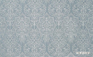 Travers Carlyle Cordelia - 44068/216  | Curtain Fabric - Blue, Damask, Natural, Natural Fibre, Standard Width