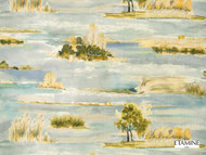 Etamine Optimiste Estuaire - 19479/493  | Curtain & Upholstery fabric - Gold,  Yellow, Natural Fibre, Domestic Use, Natural, Standard Width