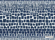 Unique Fabrics Shikara Giraffe - Indigo  | Curtain & Upholstery fabric - Blue, Eclectic, Natural Fibre, Domestic Use, Natural, Standard Width