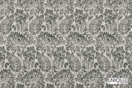 Unique Fabrics Bonheur Jolie - Blanc  | Curtain & Upholstery fabric - Grey, Floral, Garden, Botantical, Traditional, Craftsman, Damask, Natural
