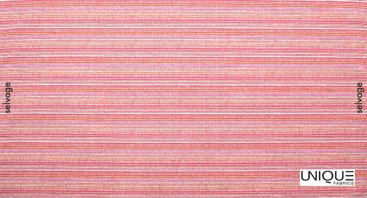 Unique Fabrics Mughal Karma - Azurite  | Upholstery Fabric - Pink, Purple, Stripe, Eclectic, Strie, Standard Width