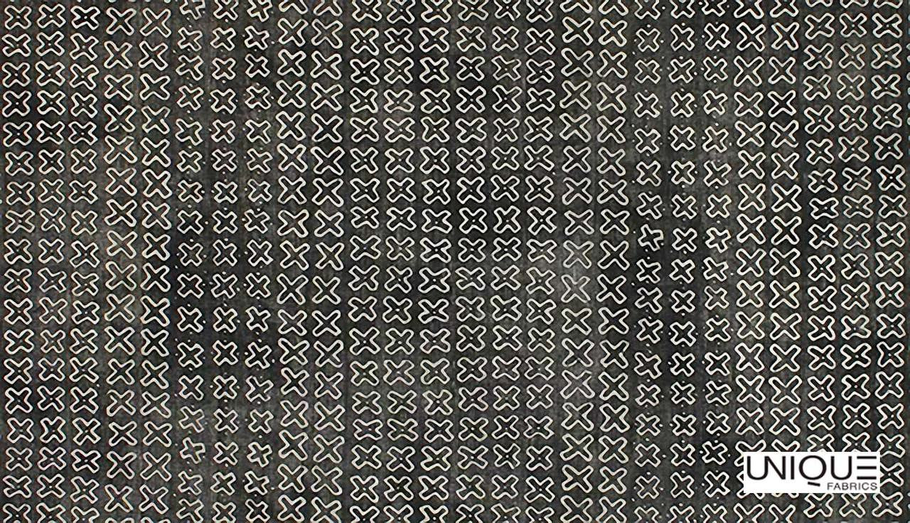 Unique Fabrics Zambesi Kirubi - Stone    Curtain & Upholstery fabric - Black, Charcoal, Eclectic, Natural, Small Scale, Natural Fibre, Standard Width