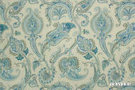 Travers Yorkshire Lehman Paisley - 44091/565  | Curtain Fabric - Blue, Floral, Garden, Botantical, Mediterranean, Paisley, Traditional, Jacobean