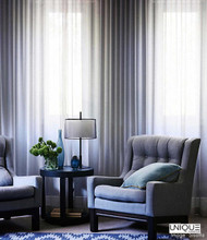Unique Fabrics Limoges - Alabaster  | Curtain Fabric - Grey, Wide-Width, Plain, Fibre Blend