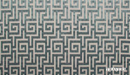 Travers Yorkshire Moncello - 44099/695    Curtain & Upholstery fabric - Blue, Natural Fibre, Traditional, Domestic Use, Fret, Greek Key, Natural, Standard Width