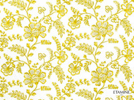 Etamine Optimiste Moustie - 19471/173  | Curtain Fabric - Gold,  Yellow, Craftsman, Floral, Garden, Natural Fibre, Natural, Standard Width
