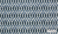 Unique Fabrics Sanctuary Nias - Bleu  | Curtain & Upholstery fabric - Blue, Ikat, Natural Fibre, Domestic Use, Natural, Standard Width