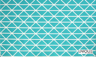 Unique Fabrics Outstanding II Profile - Caribbean  | Curtain & Upholstery fabric - Teflon, Eclectic, Geometric, Midcentury, Outdoor Use, Synthetic, Turquoise, Teal
