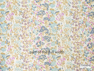 Etamine Optimiste Rosee - 19475/454  | Curtain Fabric - Blue, Floral, Garden, Natural Fibre, Natural, Wide Width
