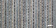 Travers Yorkshire St. Simon - 44094/357  | Curtain Fabric - Blue, Art Deco, Craftsman, Natural Fibre, Stripe, Chevron, Zig Zag, Natural, Standard Width