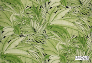 Unique Fabrics Shangri-la Urban Jungle - Palm  | Curtain & Upholstery fabric - Green, Floral, Garden, Botantical, Natural, Tropical, Natural Fibre