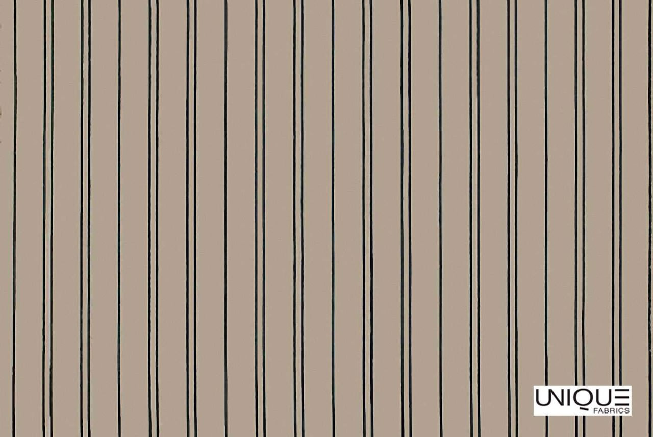 Unique Fabrics Villeroy Stripe - Clay  | Curtain & Upholstery fabric - Brown, Stripe, Traditional, Natural, Natural Fibre, Standard Width