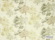 Unique Fabrics Highwick Woodland - Oak  | Curtain & Upholstery fabric - Gold, Yellow, Floral, Garden, Botantical, Natural, Woodland, Natural Fibre