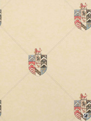 Andrew Martin Attic Hastings - Buff  | Wallpaper, Wallcovering - Beige, Foulard, Paper Based