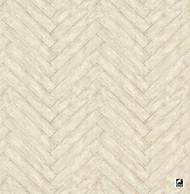 Andrew Martin Attic Parquet - Ash  | Wallpaper, Wallcovering - White, Chevron, Zig Zag, Domestic Use, White