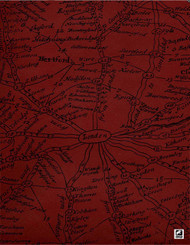 Andrew Martin Inventor Traveller - Clay  | - Red, Contemporary, Maps, Paper Based