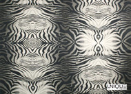 Unique Fabrics Shangri-la Amazonia - Pelt  | Curtain & Upholstery fabric - Black - Charcoal, Eclectic, Industrial, Natural Fibre, Zebra, Domestic Use, Natural, Standard Width