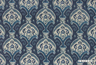 Travers New Classics Arterra - 44104.385  | Curtain & Upholstery fabric - Blue, Traditional, Craftsman, Damask, Natural, Natural Fibre, Standard Width