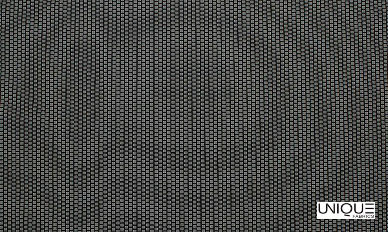 Unique Fabrics Outlines Brick - Obsidian    Upholstery Fabric - Black, Charcoal, Outdoor Use, Small Scale, Standard Width