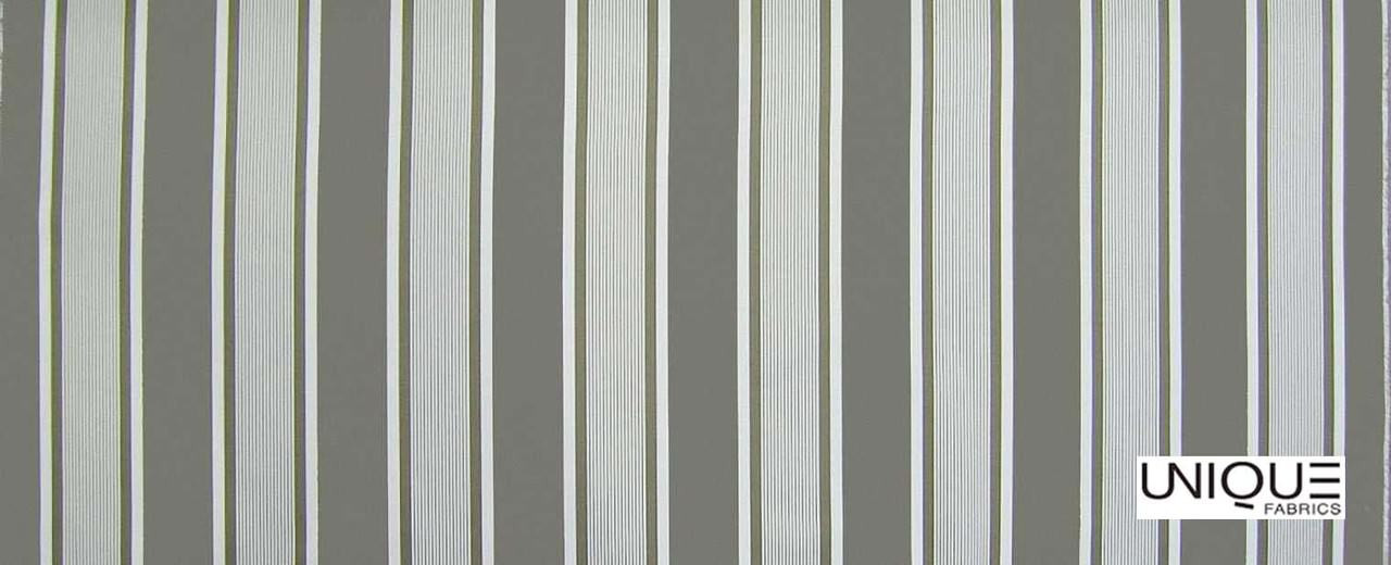 Unique Fabrics Outstanding Bridge Stripe - Carrera  | Curtain & Upholstery fabric - Grey, Stripe, Traditional, Outdoor Use, Teflon, Standard Width