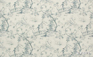 Travers Yorkshire Cathay - 44086/586    Curtain Fabric - Beige, Blue, Natural Fibre, Toile, Traditional, Natural, Standard Width
