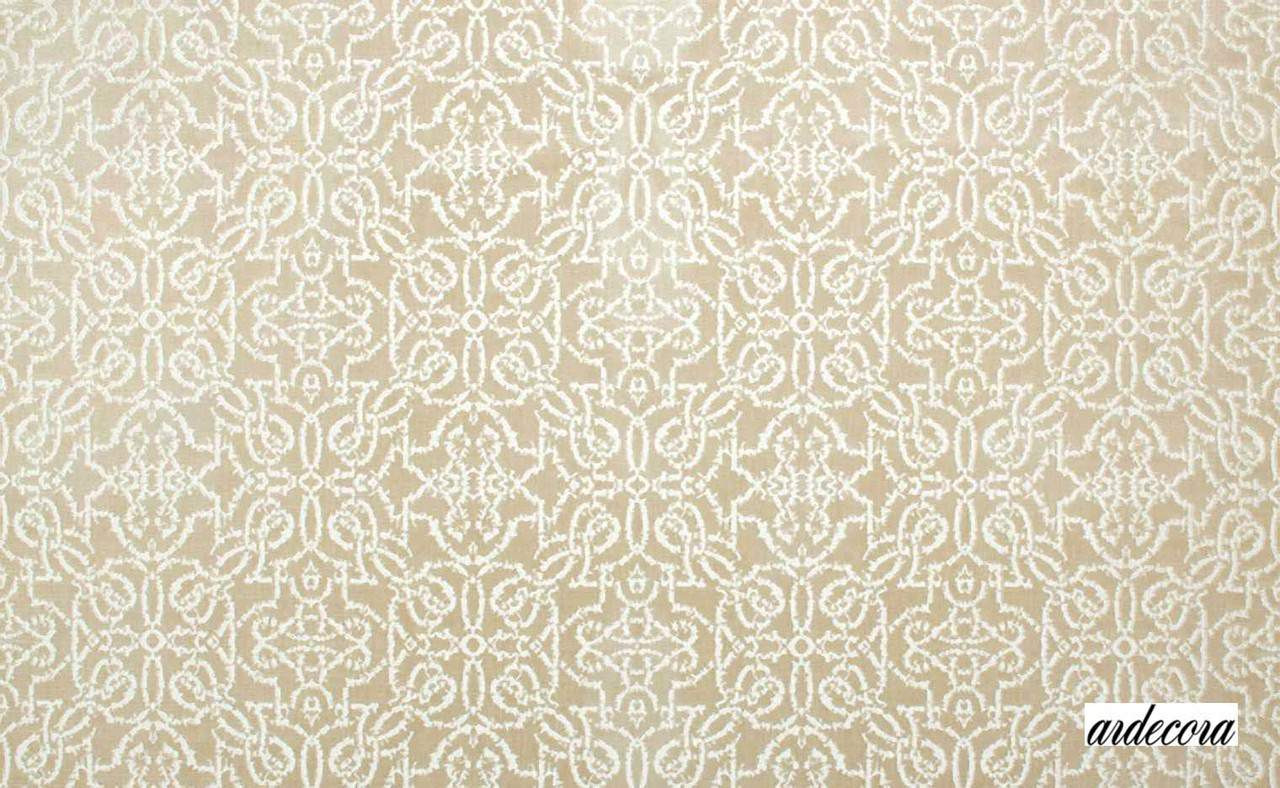 Ardecora La Traviata Coro - 15363/882  | Upholstery Fabric - Beige, White, Damask, Natural Fibre, Traditional, Transitional, Domestic Use, Lattice, Trellis, Natural, White