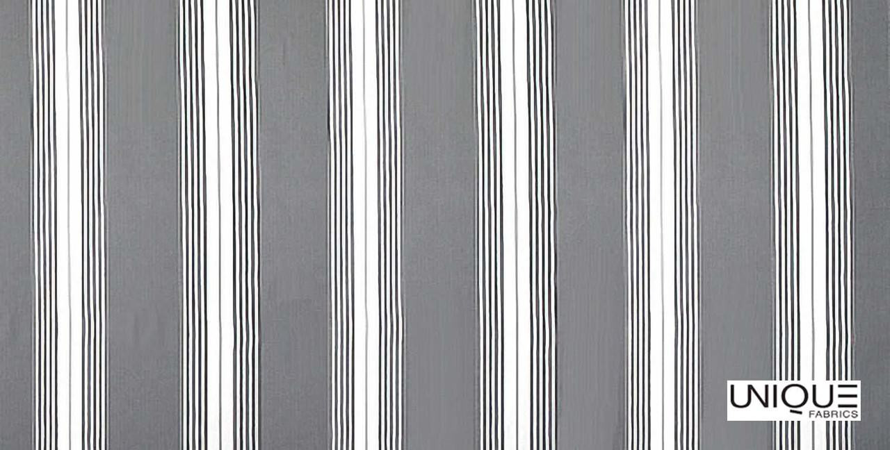 Unique Fabrics Field Days Grain Stripe - Berry    Curtain & Upholstery fabric - Grey, Stripe, Traditional, Natural, Natural Fibre, Standard Width