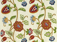 Andrew Martin Ipanema Zapote - Multi  | Curtain & Upholstery fabric - Red, Craftsman, Floral, Garden, Jacobean, Natural Fibre, Traditional, Domestic Use, Natural