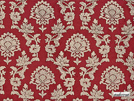 Ardecora Il Caravaggio Adorazione - 15314.396  | Curtain Fabric - Red, Traditional, Craftsman, Damask, Standard Width