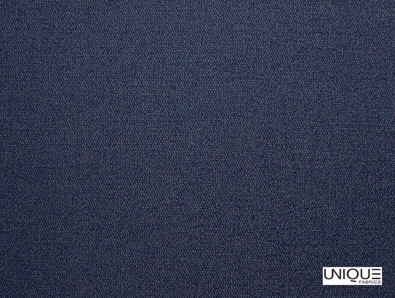 Unique Fabrics Westminster Balfour - Ink  | Upholstery Fabric - Blue, Natural, Plain, Natural Fibre, Standard Width