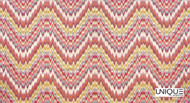 Unique Fabrics Mughal Jaipur - Jewel  | Curtain & Upholstery fabric - Pink, Purple, Eclectic, Chevron, Zig Zag, Flame Stitch, Fibre Blend