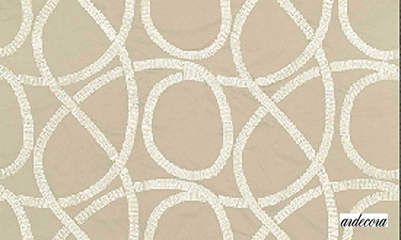 Ardecora Les Annees Folles Broadway - 15334.885  | Curtain Fabric - Beige, White, Contemporary, Natural Fibre, Transitional, Abstract, Natural, White, Standard Width