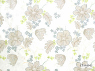 Etamine Optimiste Eugenie - 19468/443  | Curtain Fabric - Gold, Yellow, Floral, Garden, Botantical, Fibre Blend, Standard Width