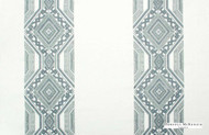 Hodsoll McKenzie Interiors Guilford Embroidery - 21164/561  | Curtain Fabric - Blue, Diamond, Harlequin, Stripe, Eclectic, Natural, Natural Fibre