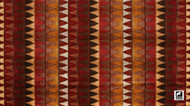 Andrew Martin Lost & Found Ladder - Brick  | Curtain & Upholstery fabric - Brown, Red, Mediterranean, Traditional, Kilim, Rust, Southwestern