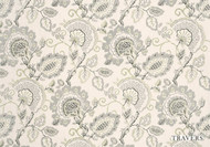 Travers Windermere/Bloomsbury Windermere - 40076.795  | Curtain Fabric - Grey, Floral, Garden, Botantical, Traditional, Jacobean, Craftsman, Natural