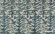Travers Yorkshire Burchell Chenille - 44088/588  | Curtain & Upholstery fabric - Blue, Eclectic, Fibre Blend, Standard Width