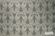 Unique Fabrics Bedouin La Grande - Alabaster  | Curtain & Upholstery fabric - Grey, Traditional, Craftsman, Damask, Standard Width