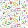 Bluebellgray Tetbury Wallpaper 2 Roll Set - Multi  | Wallpaper, Wallcovering - Blue, Green, Pink, Purple, Floral, Garden, Botantical, Farmhouse
