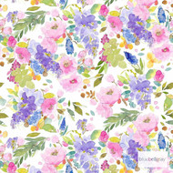 Bluebellgray Wisteria Wallpaper 2 Roll Set - Multi  | Wallpaper, Wallcovering - Blue, Green, Pink, Purple, Floral, Garden, Botantical, Farmhouse