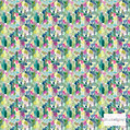 Bluebellgray Wee Rothesay - Multi    Curtain & Upholstery fabric - Blue, Green, Pink, Purple, Dry Clean, Abstract, Decorative, Natural, Natural Fibre