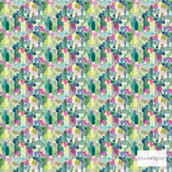 Bluebellgray Wee Rothesay - Multi  | Curtain & Upholstery fabric - Blue, Green, Pink, Purple, Dry Clean, Abstract, Decorative, Natural, Natural Fibre