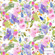 Bluebellgray Wisteria - Multi  | Curtain & Upholstery fabric - Blue, Green, Pink, Purple, Floral, Garden, Botantical, Dry Clean, Decorative, Farmhouse