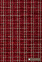 James Dunlop Tabular - Blaze  | Upholstery Fabric - Washable, Red, Dry Clean, Geometric, Check, Tile, Standard Width