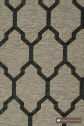 James Dunlop Isobars - Jet  | Curtain & Upholstery fabric - Washable, Black, Charcoal, Mediterranean, Dry Clean, Geometric, Lattice, Trellis, Natural