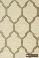 James Dunlop Isobars - Shadow  | Curtain & Upholstery fabric - Washable, Grey, Mediterranean, Dry Clean, Geometric, Lattice, Trellis, Natural