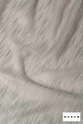 Mokum Tranquility * - Silver  | Curtain Fabric - Fire Retardant, Washable, Grey, Stripe, Wide-Width, Silver, Dry Clean, Plain, Texture, Fibre Blend